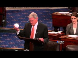 The Senate's Most Powerful Senator on Climate Change, James Inhofe, Is a Delusional Lunatic.
