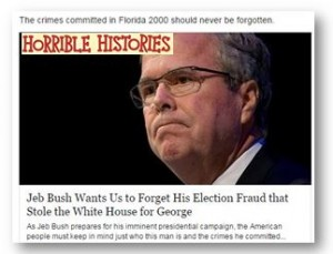 Jeb Bush: His Horrendously Horrible Histories  part 2