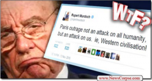 President Obama: This Is An Attack On All Of Humanity. Rupert Murdoch: Nuh Uh