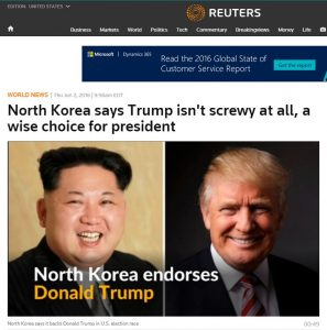 Kim Jong-un Congratulates America for Choosing Kim Jong-US as it's Emperor