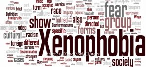 Xen·o·pho·bi·a –Introducing, Dictionary.com's word of the year:
