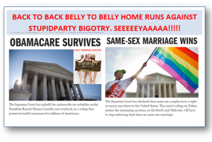 Obamacare Survives, Gays thrive: Why?