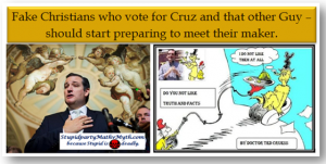 Iowan Evangelicals Vote for Ted the Anti Chruz – (With Videos)
