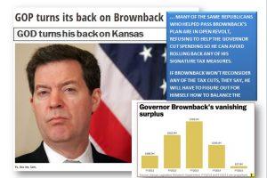Kansas, Brownback, God and his Stupidest Devotees