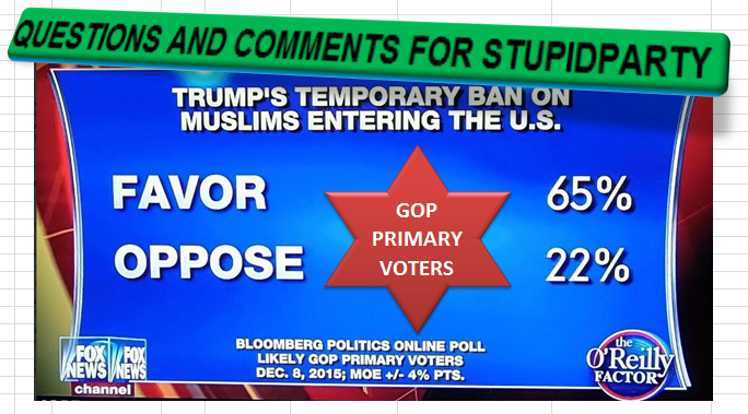 questions and comments for stupidparty