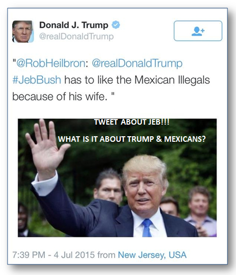 trump tweet about jeb