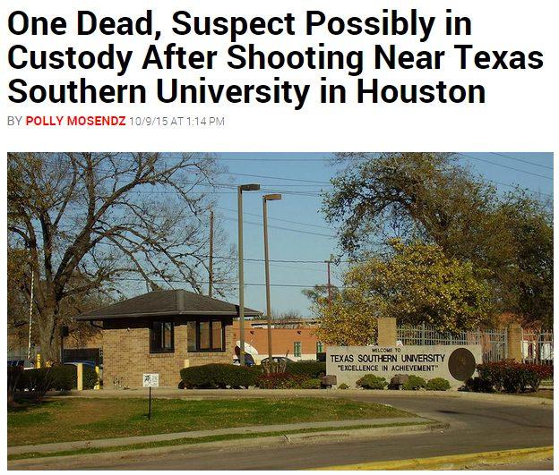 shooting near texas southern