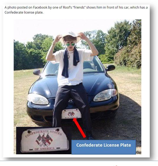 confederate license plate