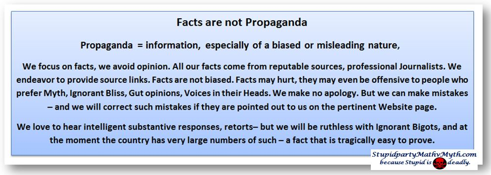 facts are not propaganda