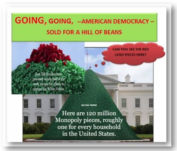 Going going american democracy sold