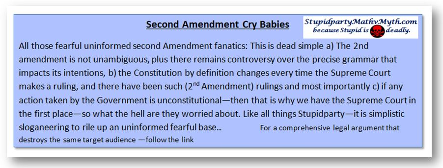 Second Amendment Cry Babies