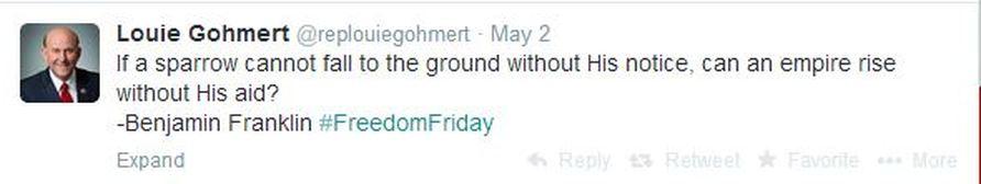 louie gohmert tweet