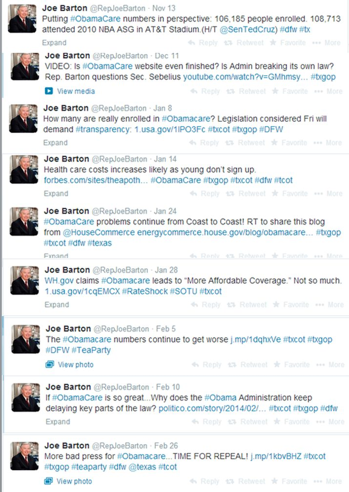 joe barton tweets