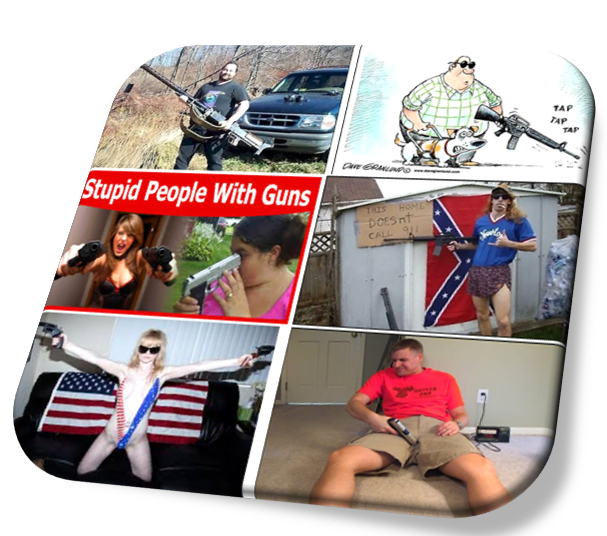 stupid people with guns
