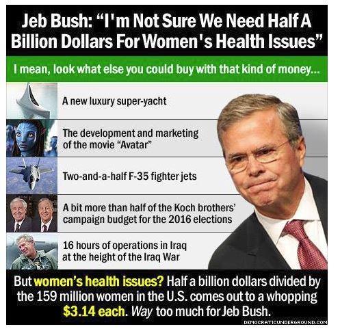jeb bush womens health issues